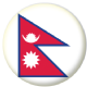 Nepal Country Flag 58mm Button Badge